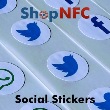 Tag NFC NTAG213 adesivi con Loghi Social