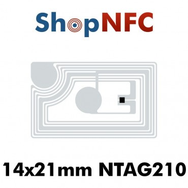NFC Stickers NTAG210μ 13.5x21mm