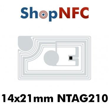 Tags NFC NTAG210μ 13,5x21mm adhésifs