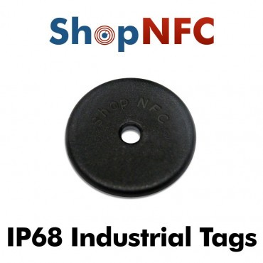 Industrial IP68 NFC Disc Ntag213 antimetal 22mm