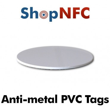 Etiqueta NFC antimetal NTAG213 30mm adhesiva de PVC