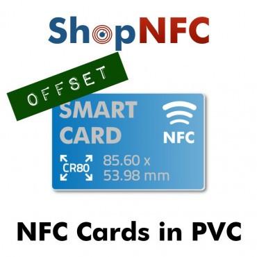 Cartes PVC NFC personnalisées - Impression Offset