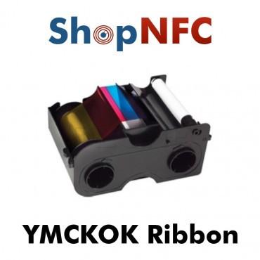 YMCKOK Color Ribbon for Fargo DTC4250, DTC1000, DTC4000