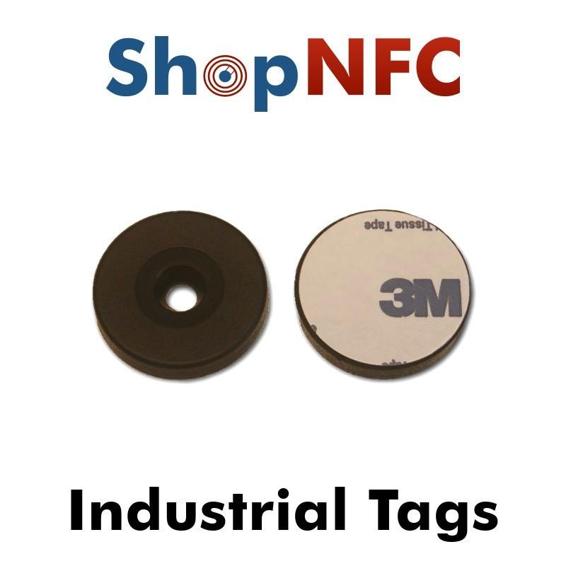 Etiqueta NFC industrial Ntag213 antimetal adhesiva 29mm
