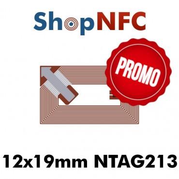 Tags NFC NTAG213 12x19mm adhésifs