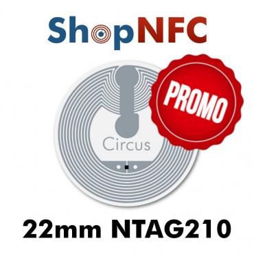Tags NFC NTAG210μ 22mm adhésifs