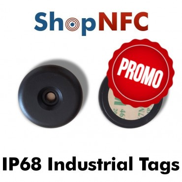 Industrial IP68 NFC Tags NTAG21x antimetal 34mm