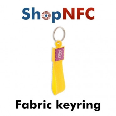 Portachiavi NFC in tessuto NTAG21x - Grafica resinata