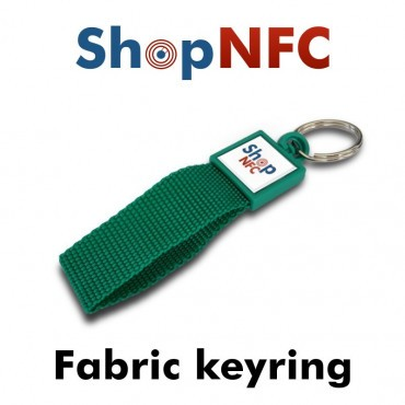 Fabric NFC Keyring Ntag21x - Resin Coated