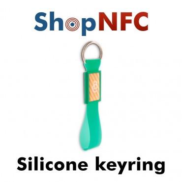 NFC-Schlüsselanhänger NTAG21x aus Silikon - Grafik mit Harz-Finish