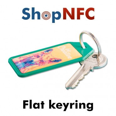 Flat NFC Keyring - Resin Coated