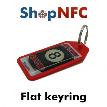 Flat NFC Keyring Ntag21x - Resin Coated