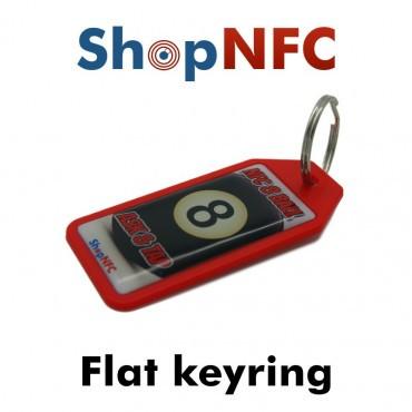 Porte-clés NFC NTAG21x - Graphique avec finition en résine