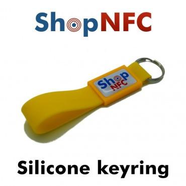 Porte-clés NFC en silicone NTAG21x - Graphique avec finition en résine