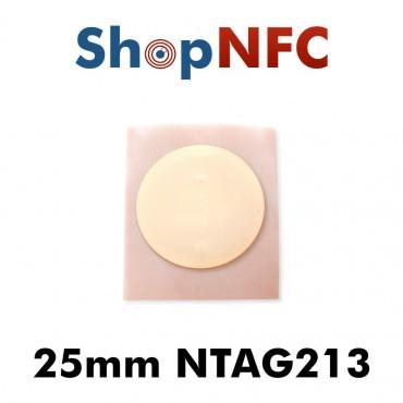 Etiqueta NFC NTAG213 25mm adhesiva