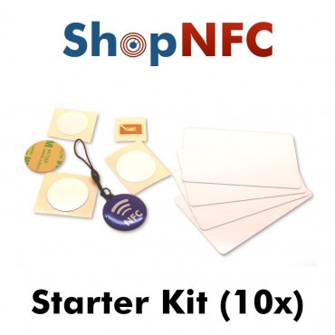 Kit of 10 various NFC Tags