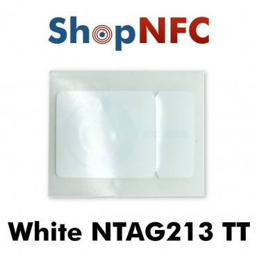 Tags NFC NTAG213 TT 26,5x42mm blancs adhésifs