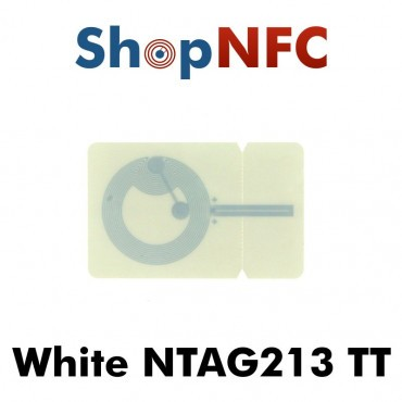 White NFC Stickers NTAG213 TT 26.5x42mm