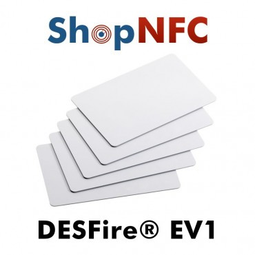 Tessere NFC in PVC bianche NXP MIFARE® DESFire® EV1 2k/4k/8k