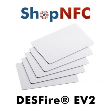 Weiße NFC Karten aus PVC NXP MIFARE® DESfire® EV2 2k/4k/8k