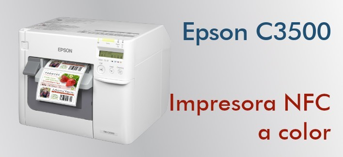 Epson C3500 - Impresora a color para etiquetas NFC