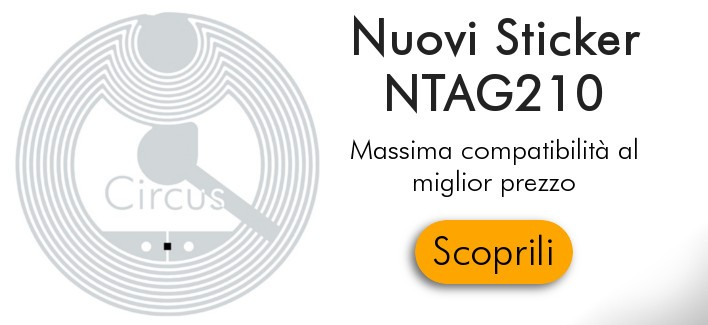 Nuovi Sticker NXP NTAG210