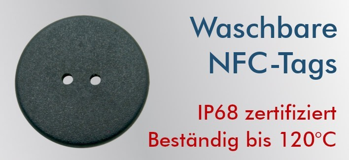 NFC Waschbare Tags NTAG213 24mm