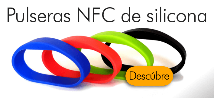Pulsera NFC coloreada de silicona