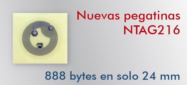 Etiqueta NFC NTAG216 24mm adhesiva