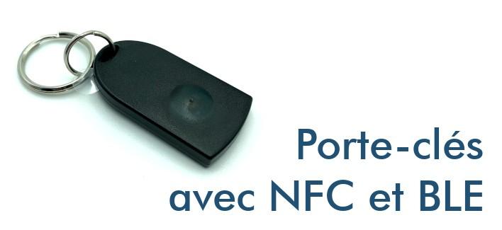 Porte-clés avec NFC et Bluetooth BLE