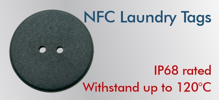 NFC Laundry Tag NTAG213 24mm
