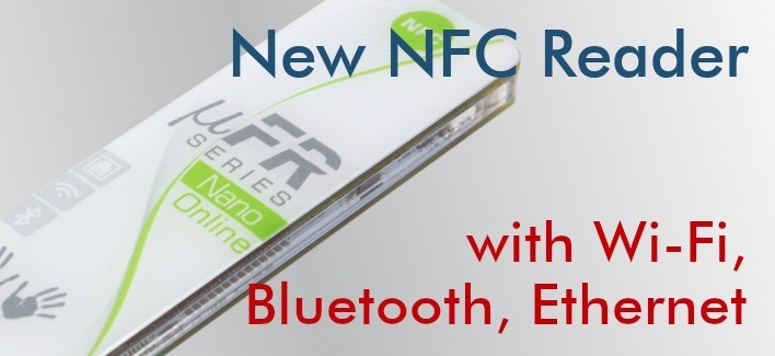 uFR Nano Online - NFC Reader with Wi-Fi, Bluetooth, Ethernet