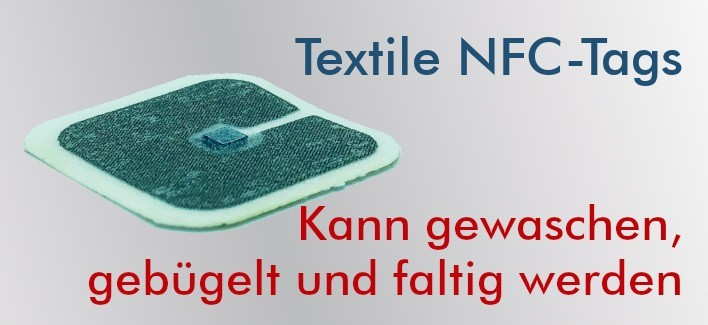 Flexible Textil-NFC-Tags NTAG212 30x30mm
