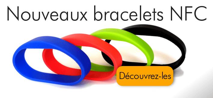 Bracelets NFC colorés en silicone