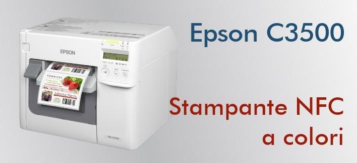 Epson C3500 - Stampante a colori di etichette NFC