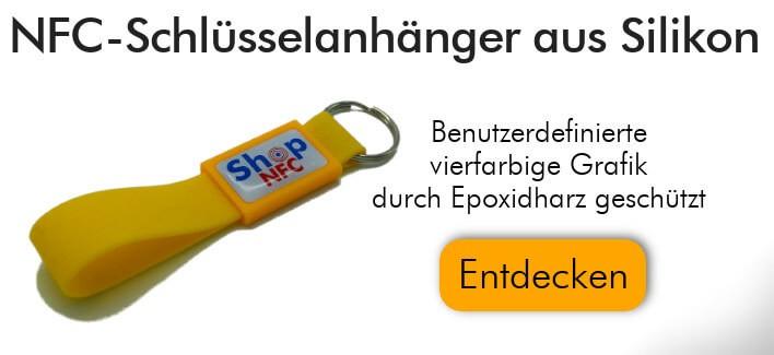 NFC-Schlüsselanhänger NTAG21x aus Silikon