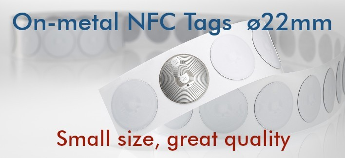 On-metal Round NFC Tags NTAG213 22mm