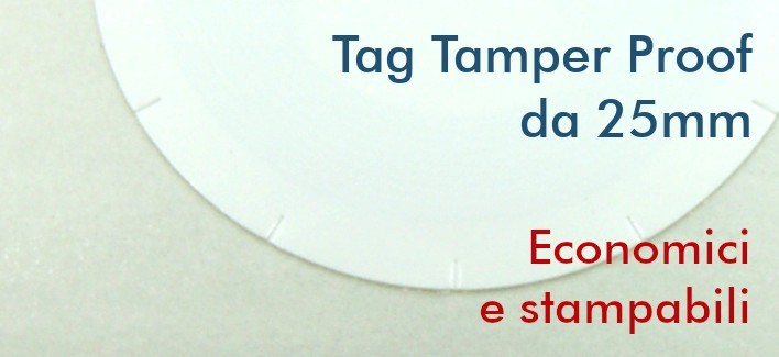 Tag NFC Tamper Proof NTAG213 ø25mm adesivi