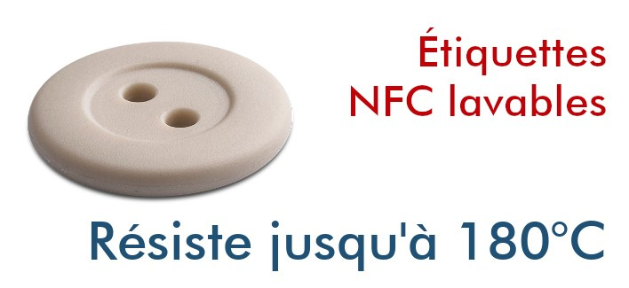 Tags NFC ICODE SLIX2 16mm lavables