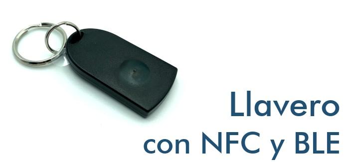 Llavero con NFC y Bluetooth BLE