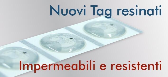 Tag NFC resinati NTAG213 22mm adesivi