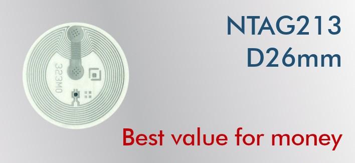 NFC Stickers NTAG213 Round ø26mm