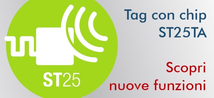 Tag NFC ST25TA02KB 29 mm adesivi
