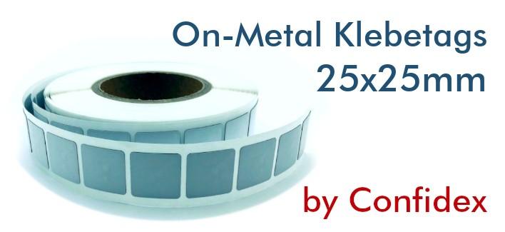NFC On-Metal Klebetags NTAG213 IP68 25x25mm