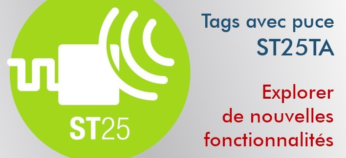 Tags NFC ST25TA02KB 29 mm adhésifs