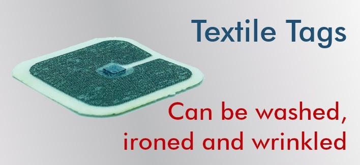 Flexible Textile NFC Tags NTAG212 30x30mm