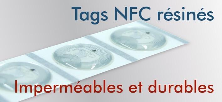 Étiquettes NFC NTAG213 revêtues de résine époxy