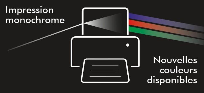 Nouvelles couleurs disponibles pour l'impression par transfert thermique
