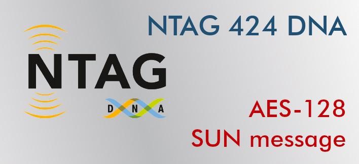 Etiqueta NFC NTAG424 DNA 29mm adhesiva