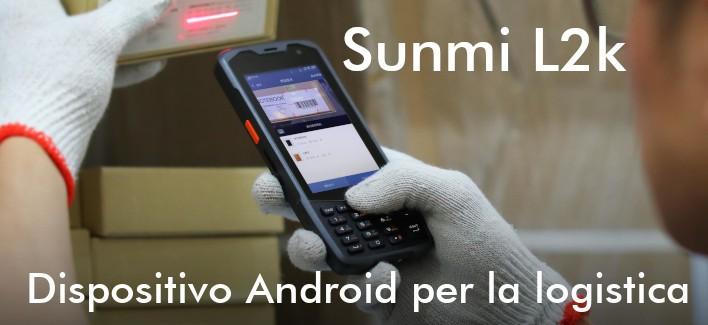 Sunmi L2k - Lettore Android rugged con tastiera